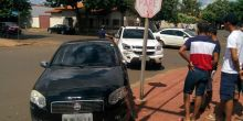 Condutor não respeita sinalização e provoca acidente em Campo Novo do Parecis