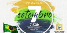 Campo Novo do Parecis realizará Parada Cívica em comemoração ao dia da Independência