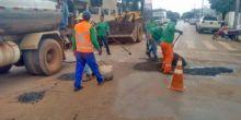 Operação tapa-buracos é feita em ruas e avenidas de Campo Novo do Parecis