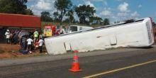 Ônibus com 40 pessoas tomba e deixa feridos entre Jaciara e Rondonópolis
