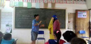 Escola Estadual Jardim dos Ipês comemora o Dia do Teatro com apresentação sobre bullying