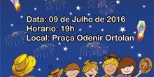 Arraiá da Escola 04 de Julho será neste sábado na Praça Odenir Ortolan