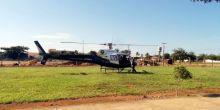 Helicóptero pousa em Campo Novo do Parecis para abastecer