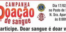 Lions realiza campanha de doação de sangue nesta sexta-feira em Campo Novo do Parecis