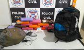 Polícia Civil apreende 13 quilos de cocaína com passageiro de ônibus