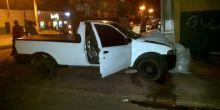 Condutor perde controle de veículo e bate em poste no Centro de Campo Novo do Parecis