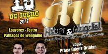 Dupla Heber & Magdiel fará show gospel neste sábado em Campo Novo do Parecis