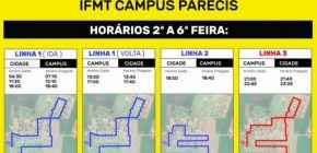 Linha para IFMT Campus Campo Novo do Parecis tem alteração na rota a pedido dos alunos