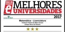 Guia do Estudante dá três estrelas para curso de Licenciatura em Matemática do campus